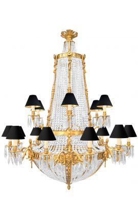 Enorme lustre de style Napoléon III avec 18 bras de lumières