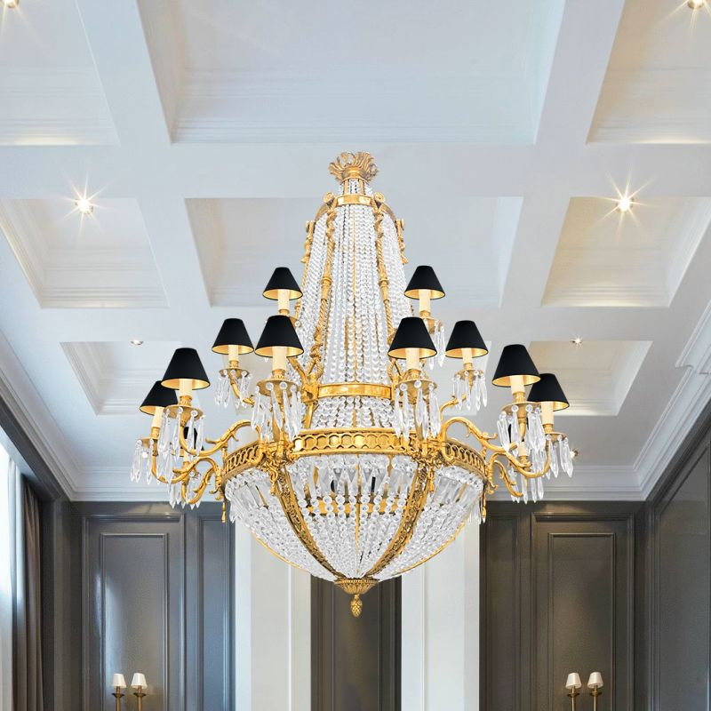 Crystal And Bronze Chandeliers
