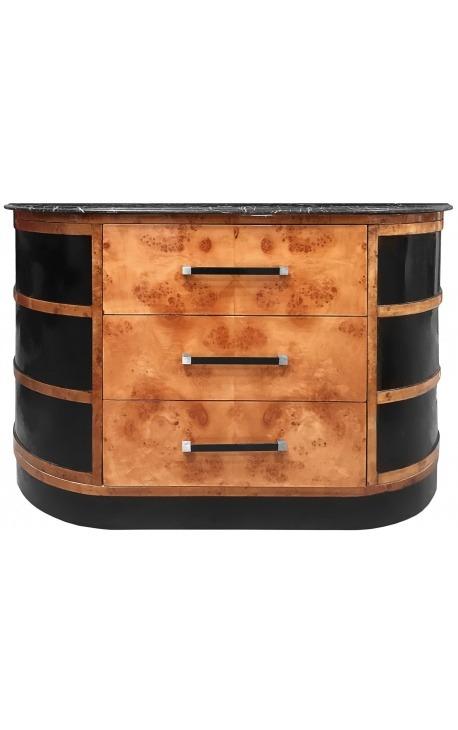 Шведский стол в стиле Aрт деко в вяжем и черном мраморе