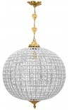 Large chandelier ball chandelier with clear glass bronze