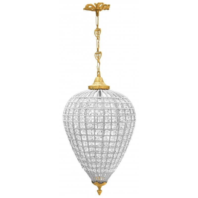 Oblong Chandelier: Oval Chandelier Glass With Bronzes