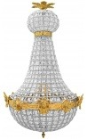 Chandelier mongolfiere bronze chandelier with clear glass