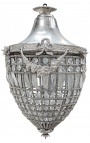 Big chandelier glass with silvered bronzes