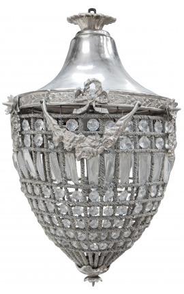 Гранд подвески люстр прозрачного стекла с серебро бронза