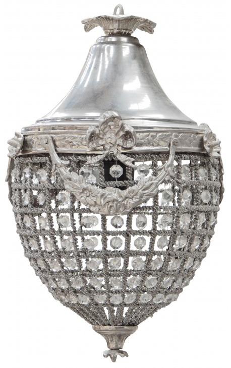 Прозрачные стекла люстра кулоны с серебряными бронзы