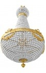 Very big montgolfiere chandelier bronze with clear glass