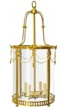 Great hall lantern of gilded bronze Louis XVI style