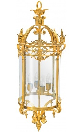 Great lantern for hall of gilded bronze