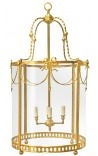 Large lantern of gilt bronze entrance hall Louis XVI style 50 cm