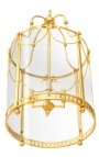 Grande lanterne de hall d'entrée bronze doré style Louis XVI 50 cm