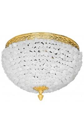 Потолочная люстра с матовым стеклом и бронзовыми украшениями