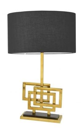 """Table lamp """"Cassiopeia"""" in brass color metal"""