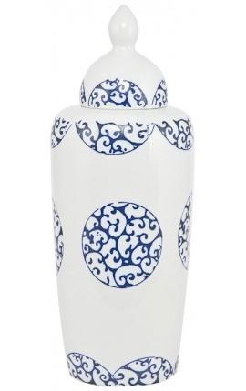 "Vase ""Thetys"" enamelled white ceramic"