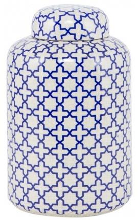 "Jar ""Jynx"" enamelled white ceramic small model"