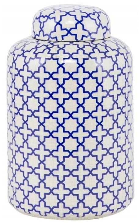 """Urne décorative """"JYNX"""" en céramique blanc émaillé petit modèle"""
