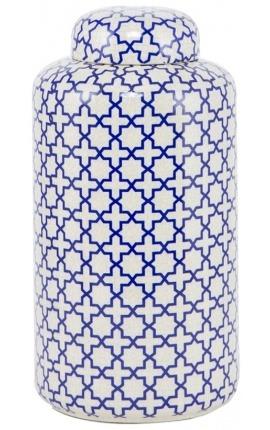 """Яркая """"Jynx"""" эмалированная белая керамическая большая модель"""