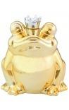 Money bank golden ceramic frog