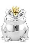 Денежный банк посеребренная керамическая лягушка