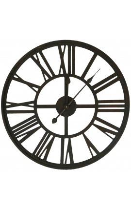 "Grande horloge ajourée style ""Usine Ancienne"""