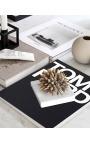 """Presse-papier avec coquillages """"Batillaria"""" et marbre blanc"""
