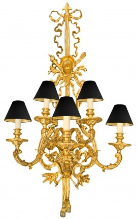 Huge bronze wall lamp in Napoleon III style 120 cm