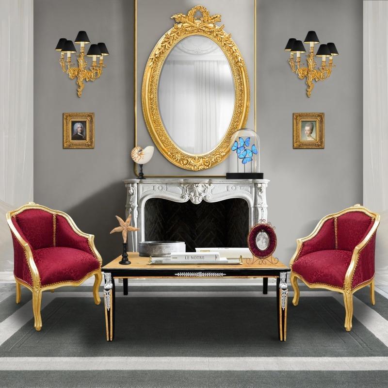 De Bronze Lampes Applique Grande À Rocaille Louis 5 Murale Style Xv En Ok08XnwP
