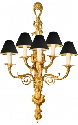 Very large wall light bronze Napoleon III style