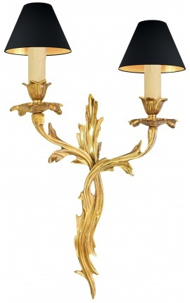 Wall light in bronze acanthus leaves Louis XV
