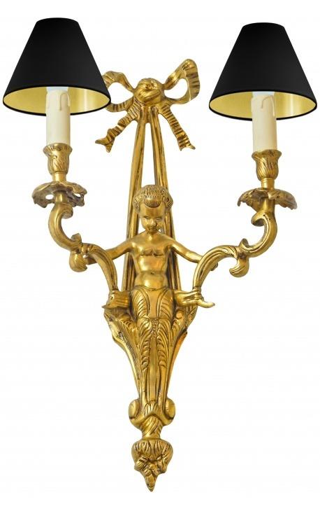 Large wall light bronze Napoleon III style with angel