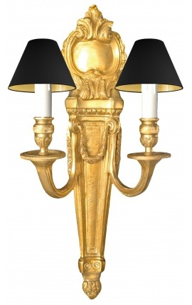 Large wall light gold bronze Louis XVI style