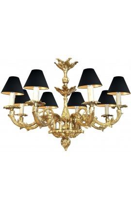 Grand lustre de style Louis XV Rocaille avec 8 bras