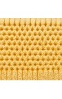Baroque headboard gold satine fabric and gold wood