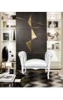 Барокко место стиль Louis XV ткань белая кожа и белого лакированного дерева
