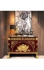 Empire Style Elm Loupe Dresser with Black Marble