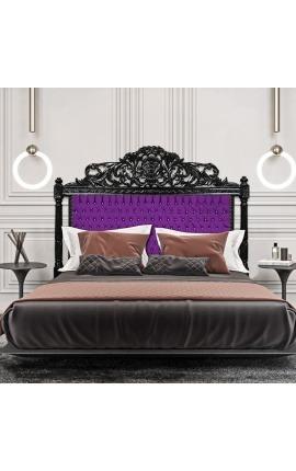 Фиолетовый ткани барокко с кристаллами и черные лакированные деревя