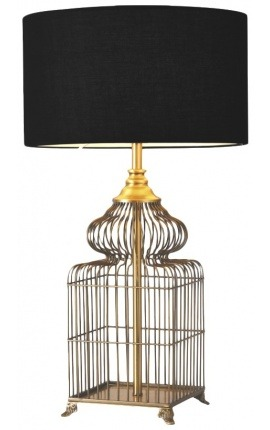 "Table lamp ""Calista"" in brass color metal"