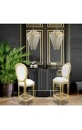 """Chandelier """"Esa"""" with 5 branches in metal color brass and glass"""
