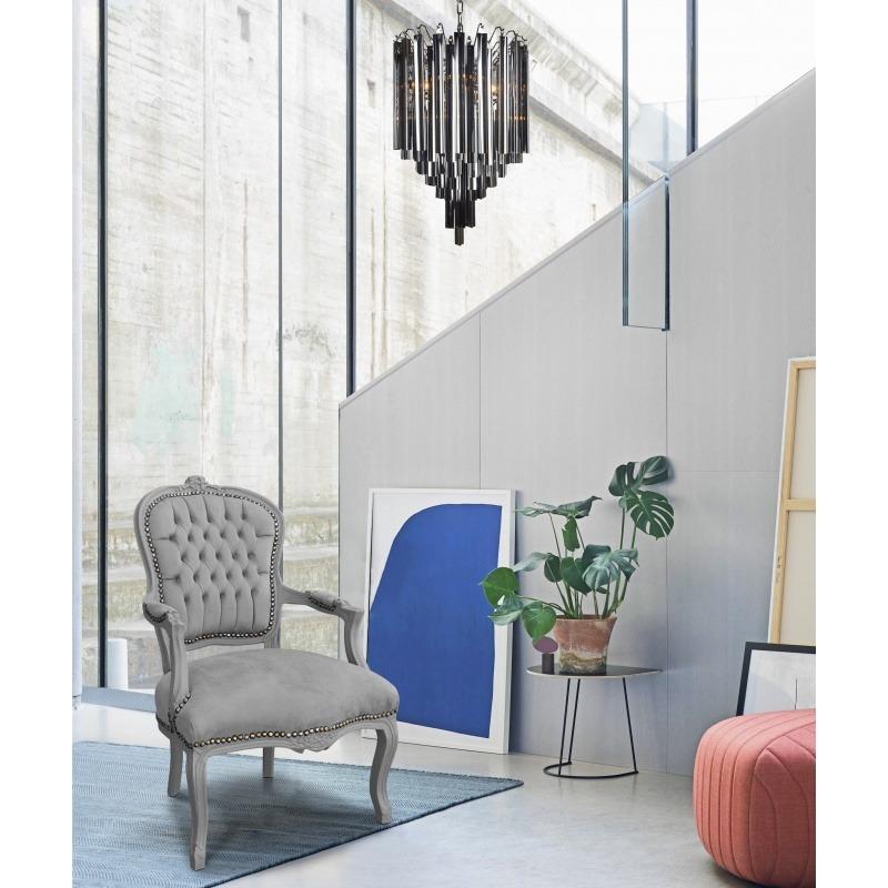 Fabulous Chandelier Livera Style Art Deco Metal And Black Glass Spiritservingveterans Wood Chair Design Ideas Spiritservingveteransorg