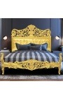 Baroque bed with gold wood