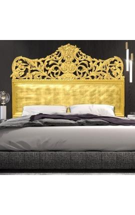 Tête de lit Baroque en bois dorée à la feuille