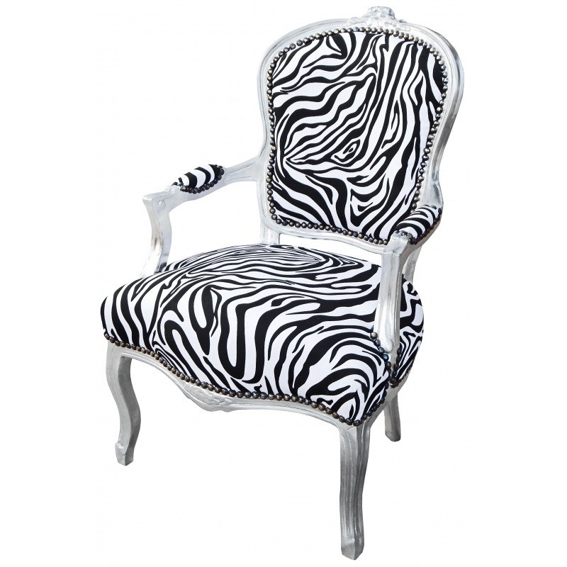 Groovy Baroque Armchair Of Style Louis Xv Zebra And Silvered Wood Short Links Chair Design For Home Short Linksinfo