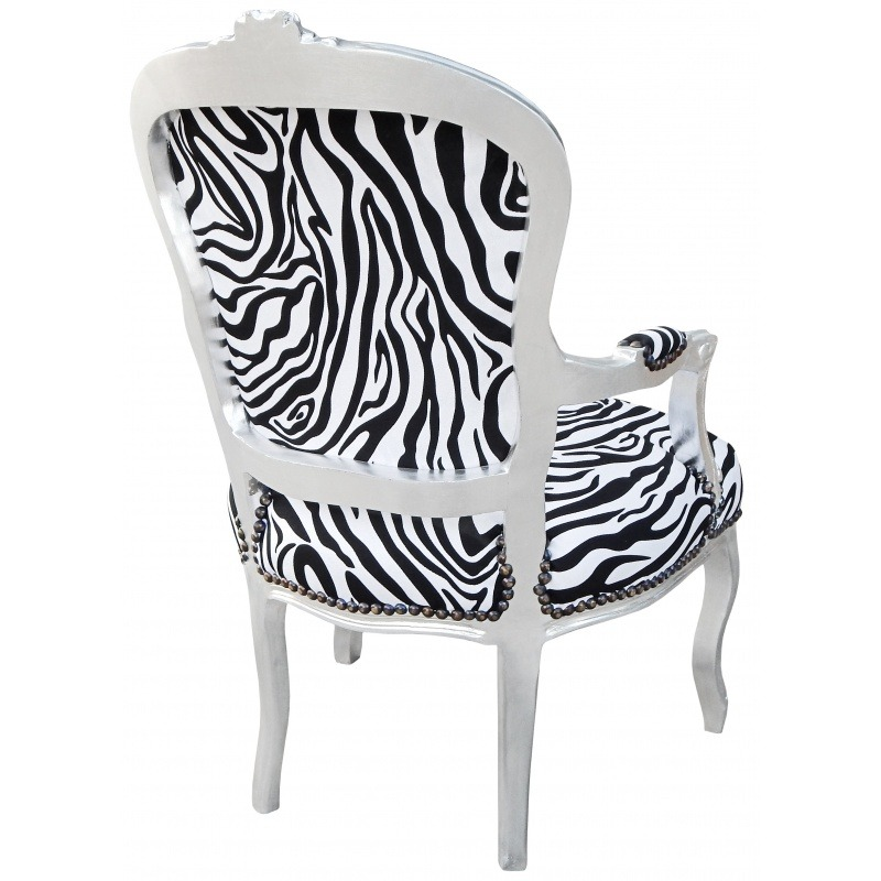Astounding Baroque Armchair Of Style Louis Xv Zebra And Silvered Wood Short Links Chair Design For Home Short Linksinfo