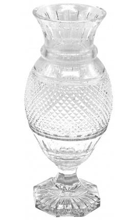 Grand vase en cristal de style Charles X cotelé