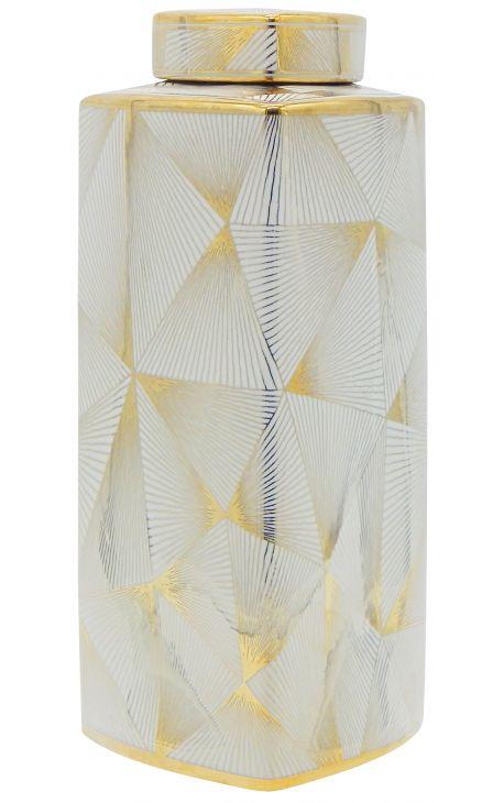 "Decorative urn ""Yarra"" in enameled ceramic, large model"