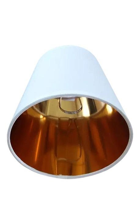 Abat-jour à clip blanc intérieur doré pour applique