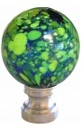blown glass ball for banister multicolor style Murano