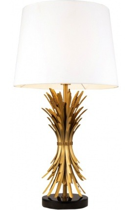"""""""Hera"""" lamp in brass-colored metal with black base"""