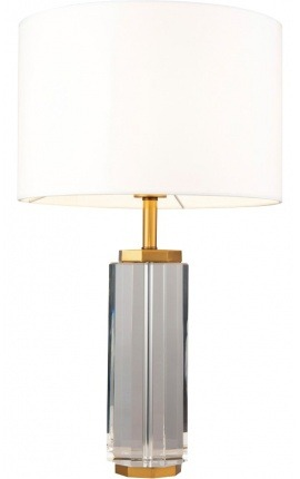 """""""Eden"""" lamp in faceted glass and brass-colored metal"""