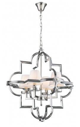 """Ulses"" chandelier in silver-colored metal - Medium model"