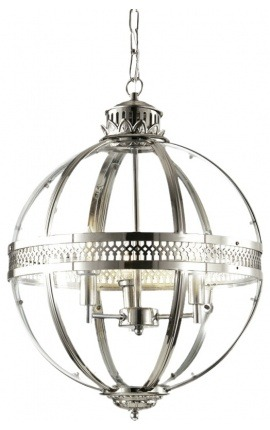 Round hall lantern patinated bronze 40 Cms